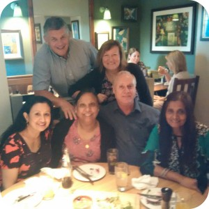Harjit with Kevin Jones, Sharon Hill, Jeya Poinasamy, Jayasree Raghu and Noel Brady