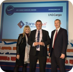 Air Freight Director Kevin Jones receiving the Award